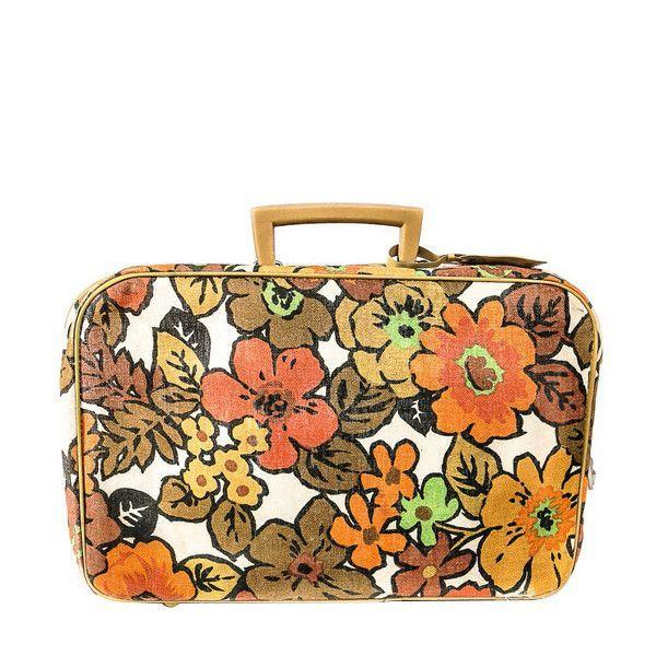 Vintage 70s Floral Suitcase | Suitcases, Vintage floral and ...