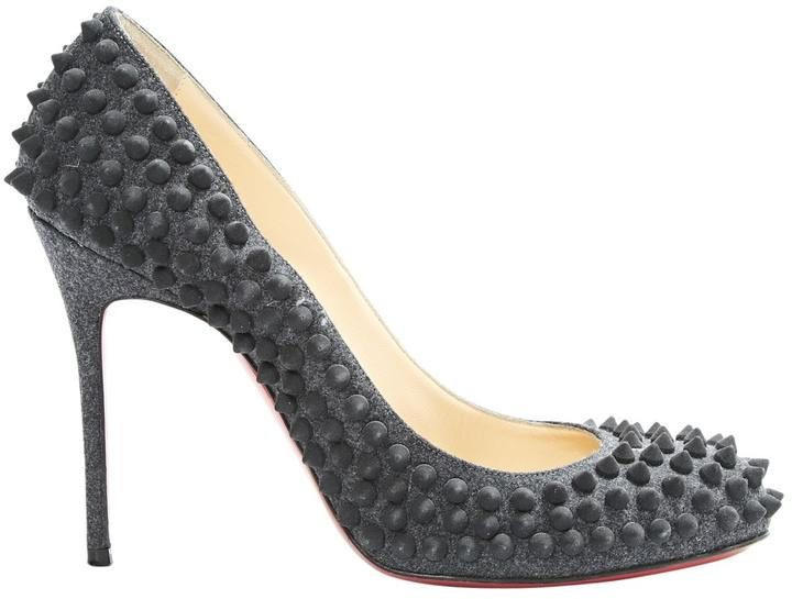 chaussures louboutin grises