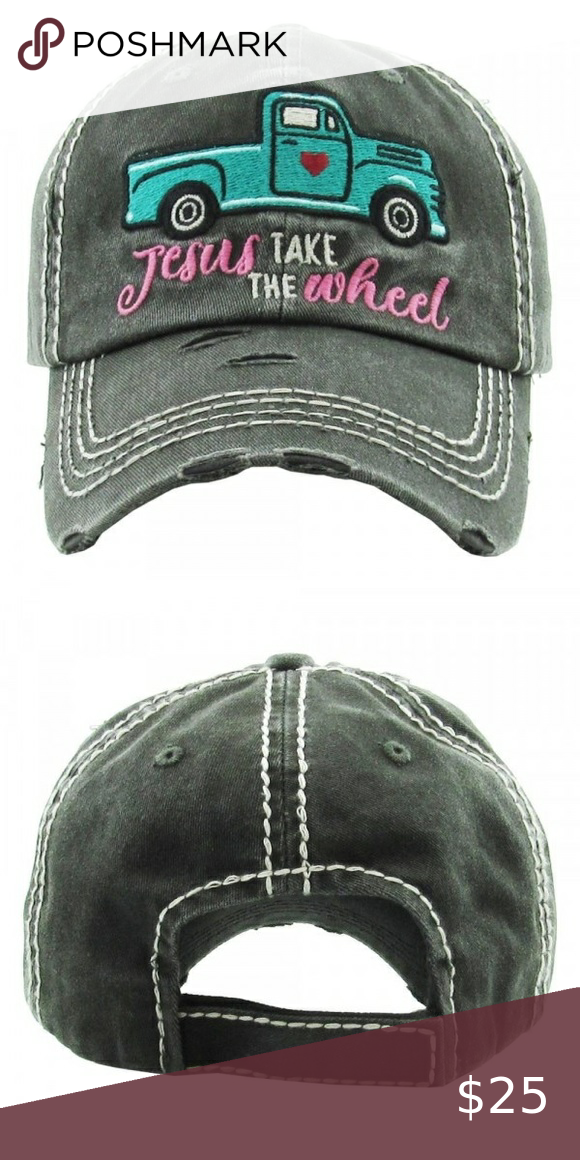 Jesus Take The Wheel Cap In 2020 Elephant Accessories Women Accessories Hats Distressed Baseball Cap