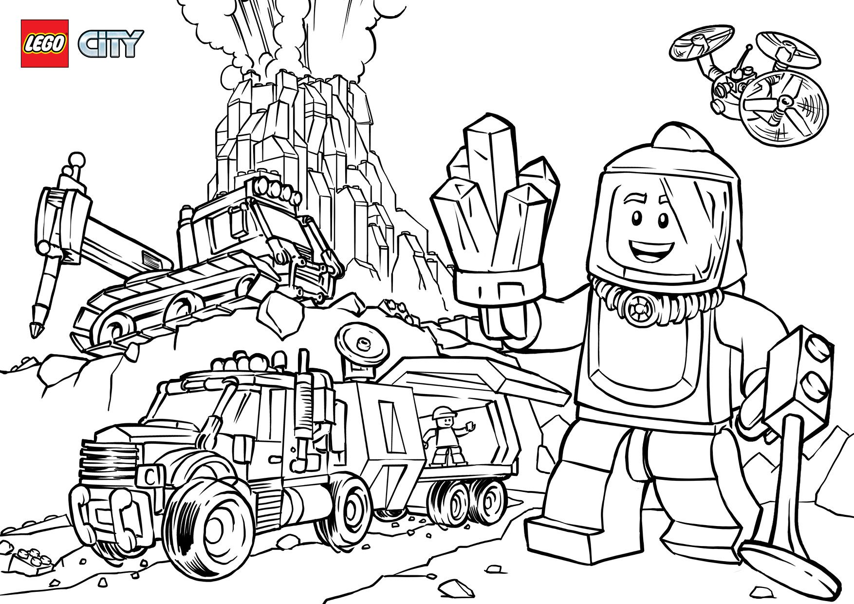 Image Result For Lego City Colouring Pages
