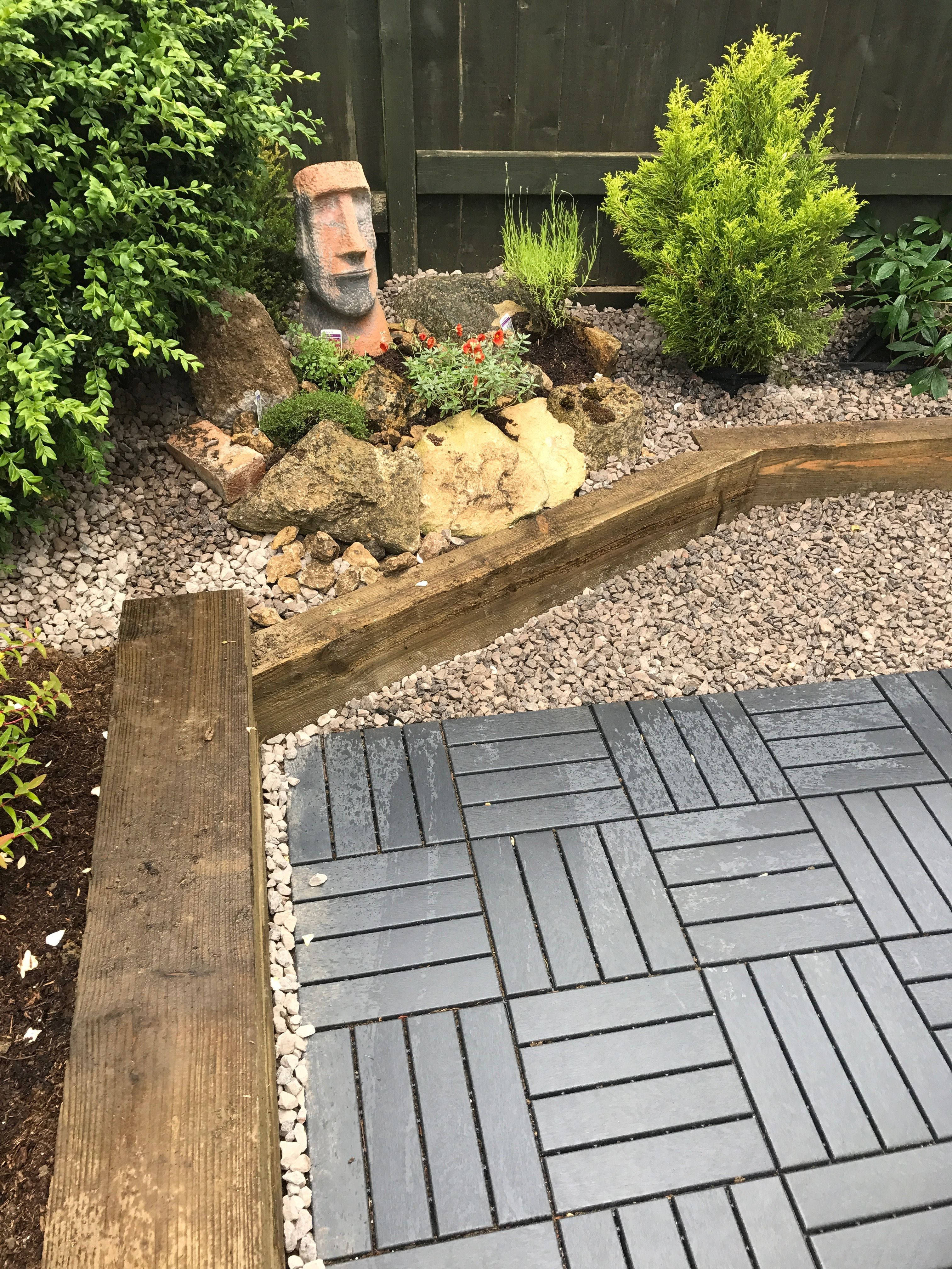 Rockery In Our Small Garden Using Ikea Runnen Decking And Wooden