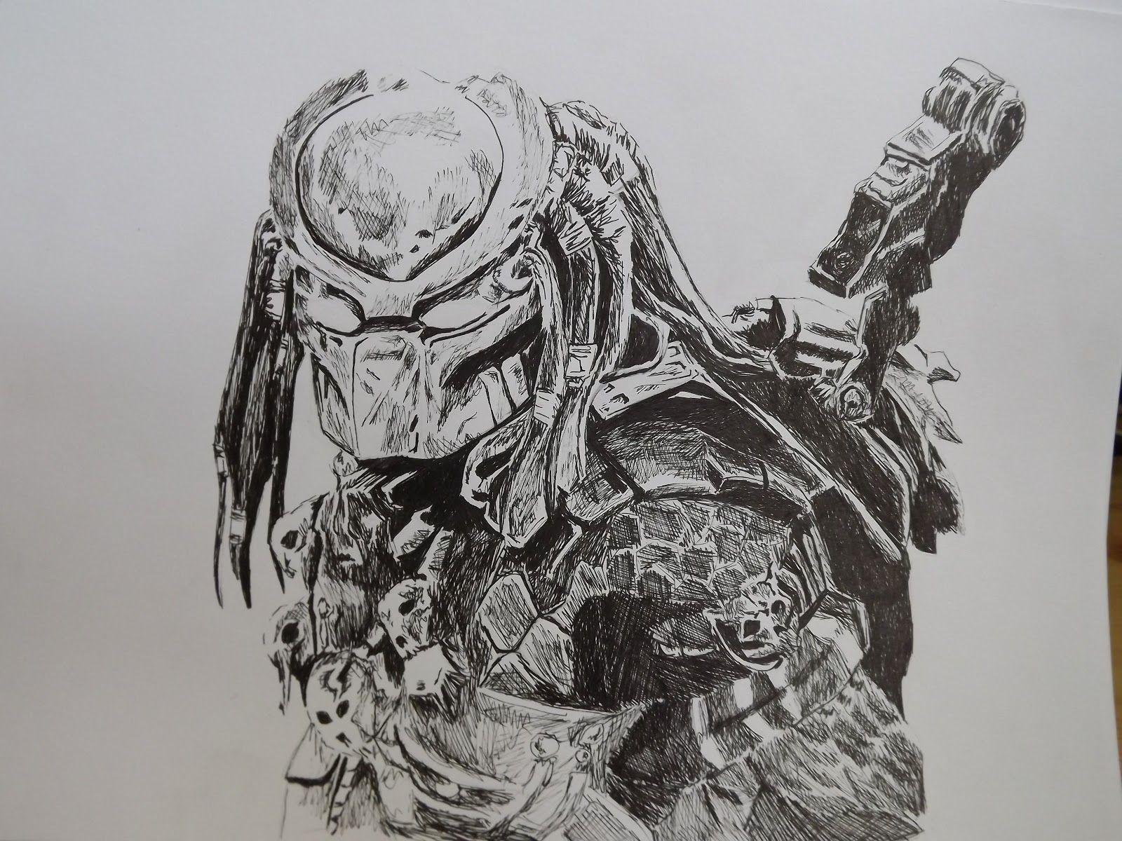 Predator Drawing - Google Street Art Alien Tattoo Sketches