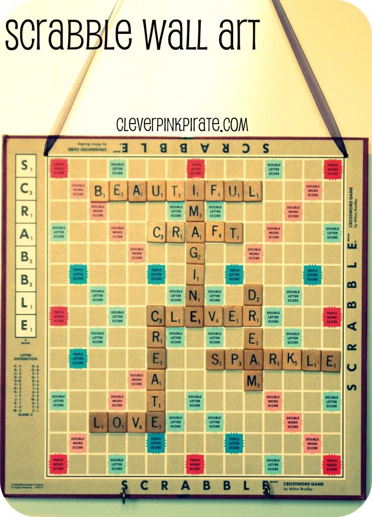 Upcycled: DIY Scrabble Wall Art for the Craft Room/Office | Scrabble ...