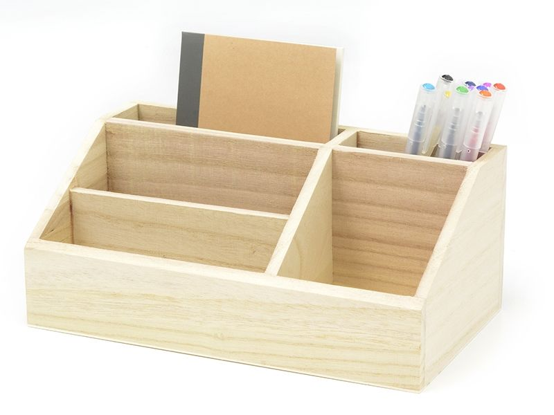 organiseur en bois customiser - Customiser Un Bureau En Bois