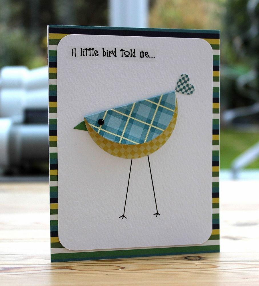 How To Make A Diy Bird Card Bird Cards Cards Homemade Greeting Cards
