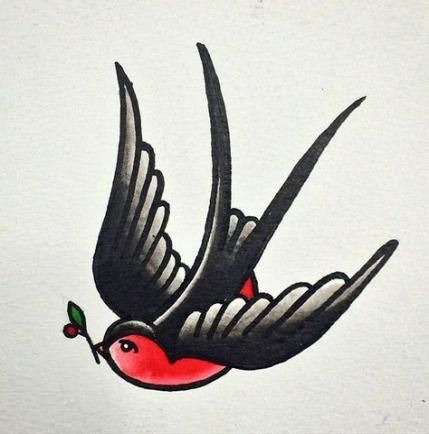 41 Trendy Swallow Bird Tattoo Vintage Design Tattoo Design Vintage Bird Traditionele Tatoeages Tatoeage Ideeen Tatoeages