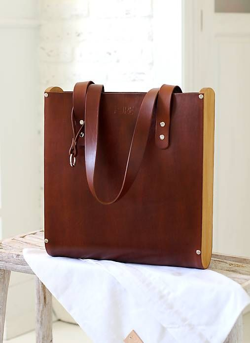 Taška SHOPPER BAG TALL BROWN   PURE - SAShE.sk - Handmade Veľké ... 61e28e02f49