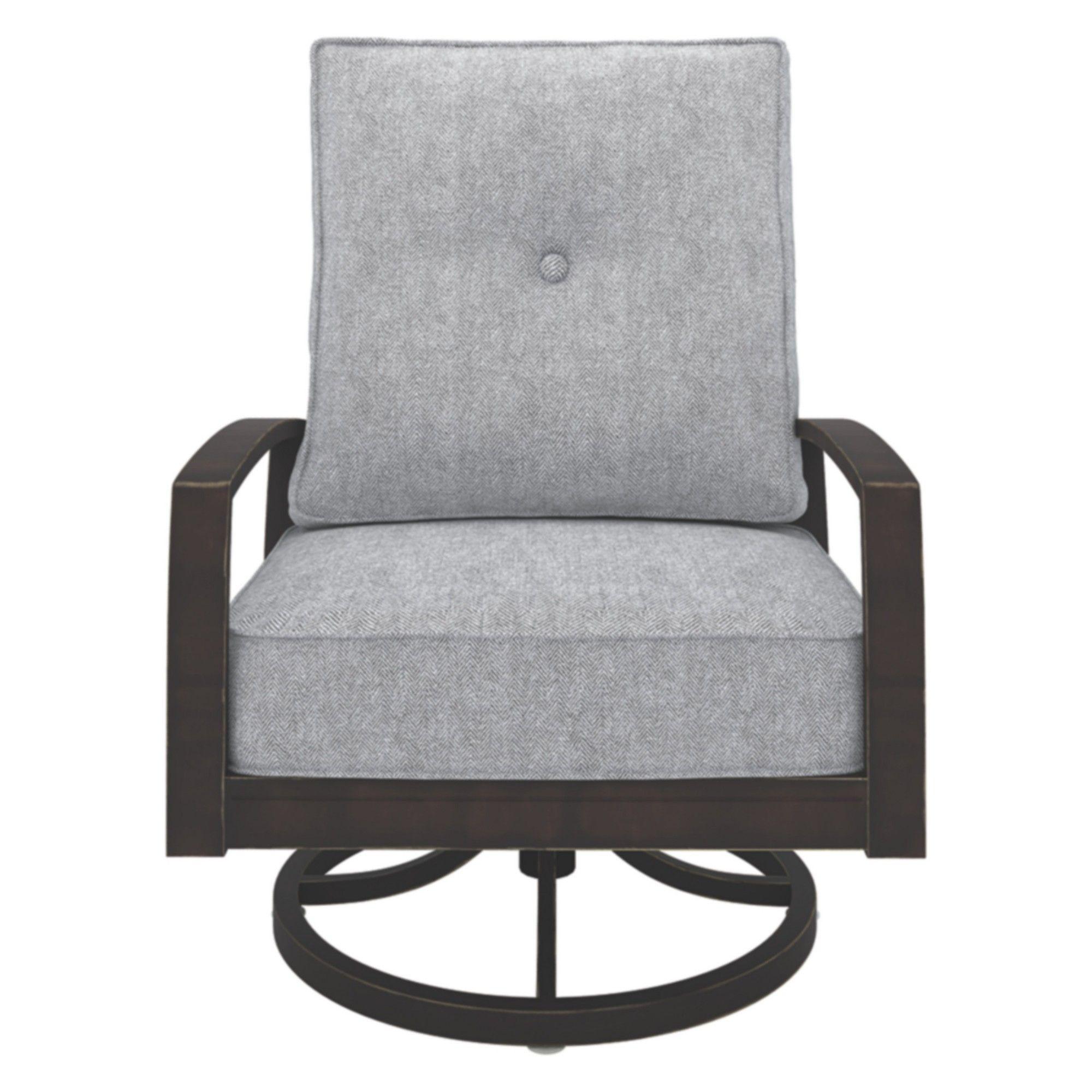 Castle island swivel lounge chair dark brown outdoor