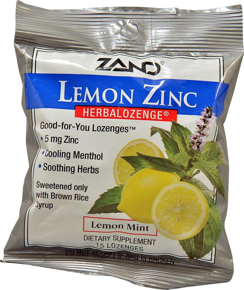 Zand herbalozenge zinc lemon 15 lozenges lemon