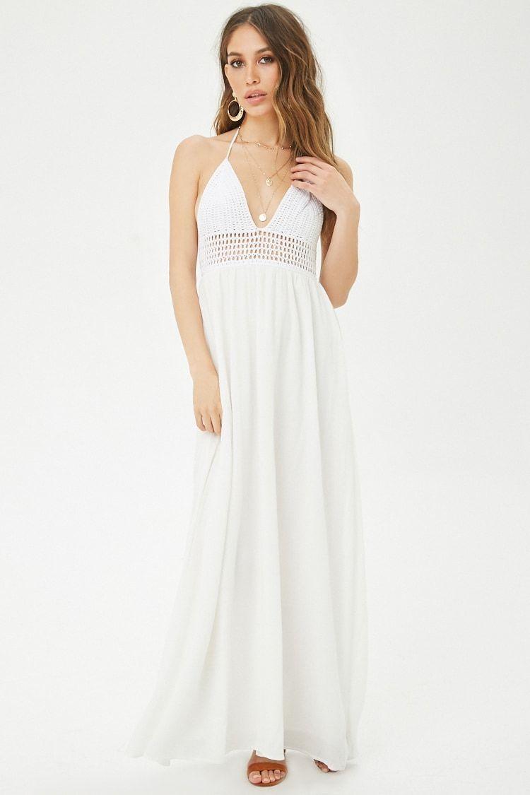 Crochet Halter Maxi Dress Forever 21 Maxi Dress Dresses Halter Maxi Dresses