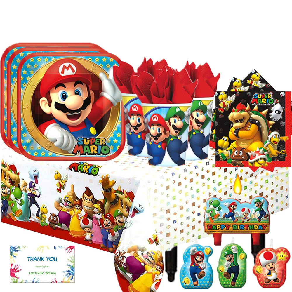 Will Your Child S Next Birthday Party Bust Your Budget: Enjoy This Super Mario Brothers Birthday Party Pack For 16