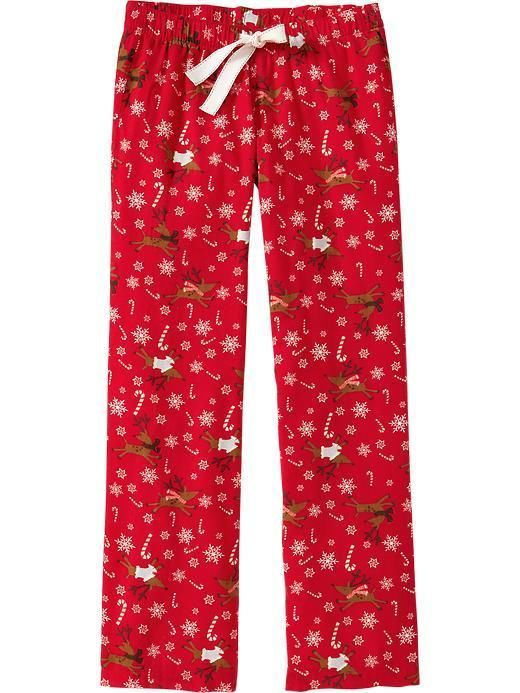 Details About Womens Old Navy Red Reindeer Snowflake Candy -3949