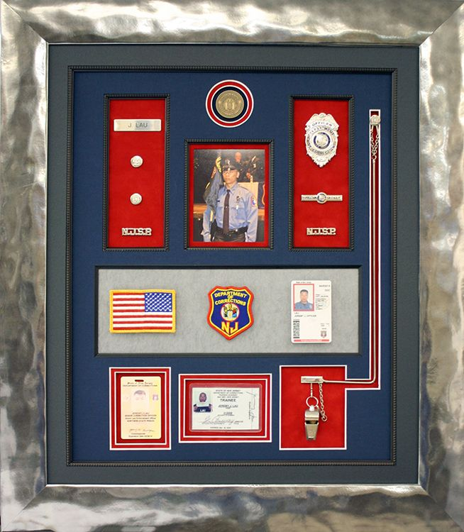 Custom made collage for law enforcement officer with photos, ids ...
