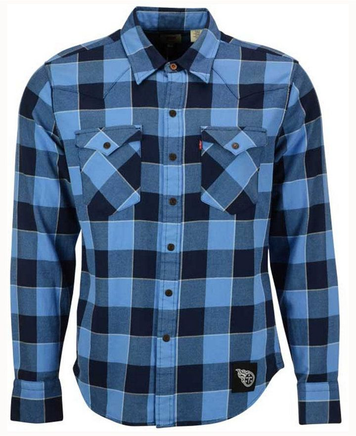 a89f512f Levi's Men's Tennessee Titans Plaid Barstow Western Shirt | Products ...