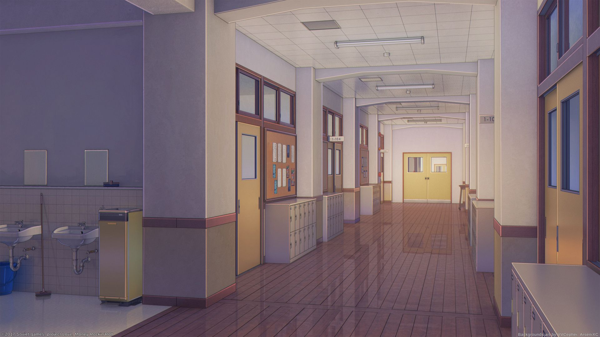 Artstation Classroom 2 Arseniy Chebynkin Anime Classroom Anime Backgrounds Wallpapers Anime Scenery