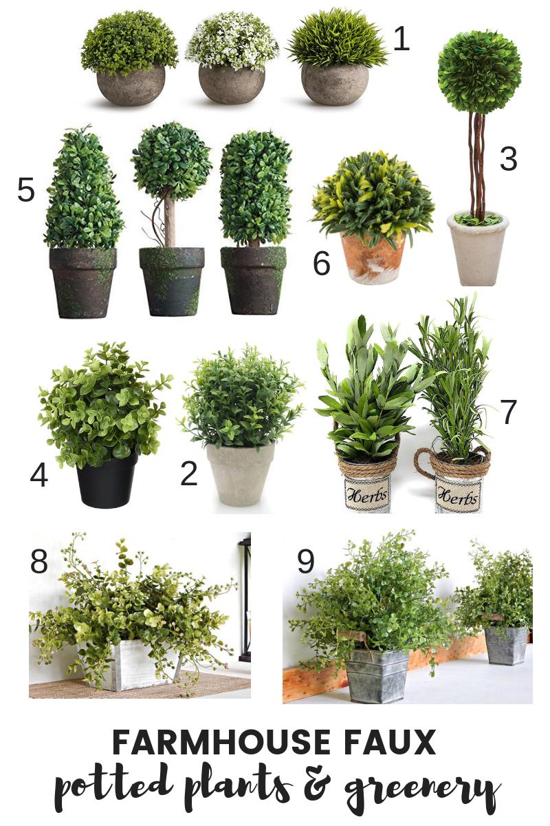 Best Farmhouse Faux Plants Greenery Old Salt Farm Faux Plants Decor Faux Outdoor Plants Faux Plants