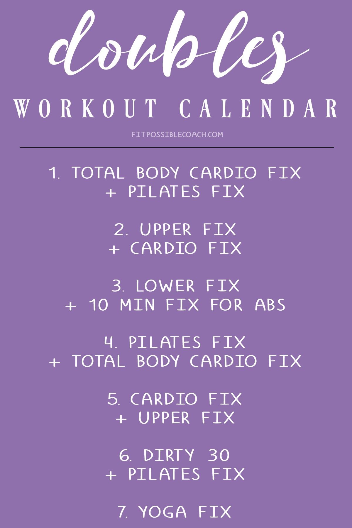 21 day fix doubles week workout calendar this can be done on week 3 of the 21 day fix or you can do it as a 4th week of the 21 day fix