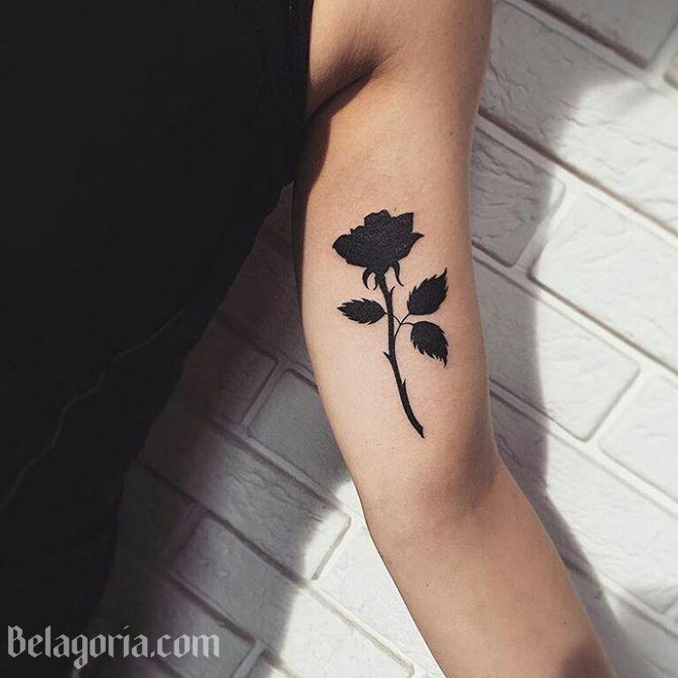 Tatuajes De Rosas Negras Para Chicas Pequeños Pinterest