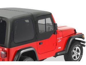 Keystone Restyling Hard Upper Doors In Black For 97 06 Jeep Wrangler Tj With Hardtop