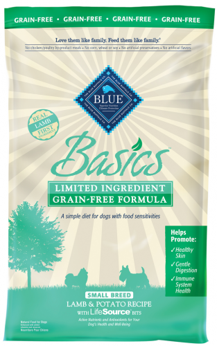 Blue Buffalo Basics Grain Free Small Breed Adult Lamb And Potato Recipe Dry Dog Food Dry Dog Food Dog Food Recipes Grain Free