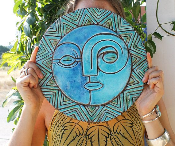 sun and moon wall decor wall art garden art outdoor decor