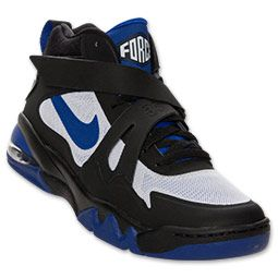 ab6aaa4275 Men's Nike Air Force Max CB 2 Hyperfuse Basketball Shoes | FinishLine.com |  Black/Concord/White