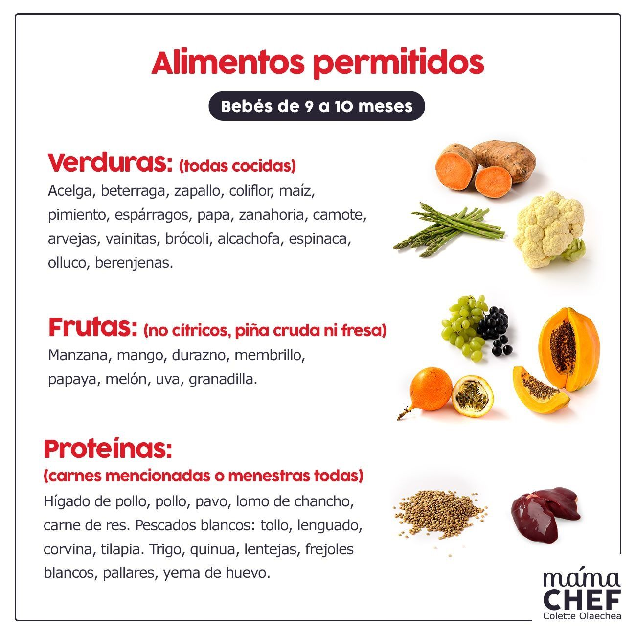 Pin De Colette Olaechea En Infografias Mama Chef Alimentacion Bebe Recetas De Comida Para Bebes Comida Para Bebes