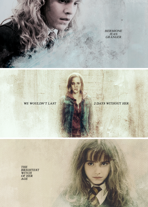 Day 7: favorite female character and why: Hermione Granger, because let's be…