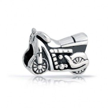 Sterling Silver Antiqued Motorcycle Charm