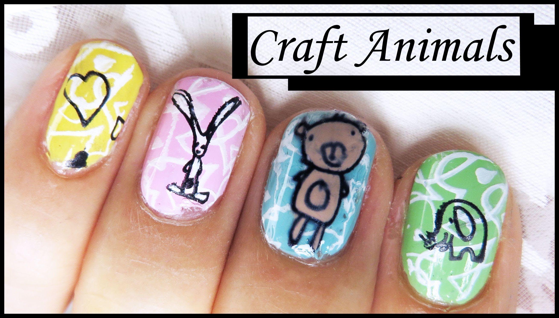 Craft Animal Stamping Nail Art Design Tutorial For Short Nails