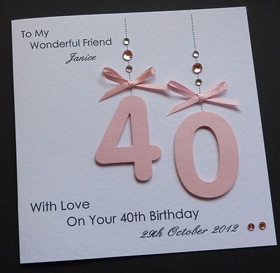 Handmade Personalised 30th 40th 50th 18th 21st Any Age Birthday Card Homemade Birthday Cards Birthday Cards For Women 50th Birthday Cards