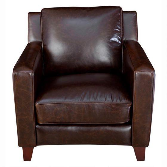 Urban Barn Preston Leather Arm Chair Modern Leather