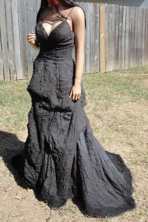 Hand dyed gothic wedding gown by Miosa by MySunshinesCloset, $249.00