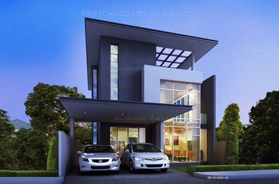 Modern tropical house plans contemporary tropical for Modern thai house design