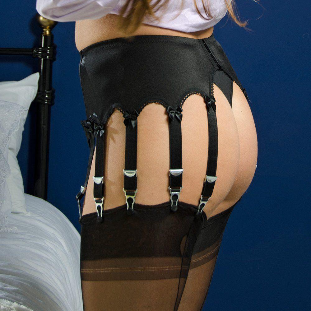 8f15ad7fa Stockings HQ NEW Classic 12-strap plain front suspender belt ...