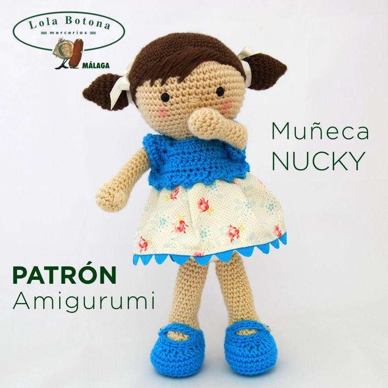 PATRÓN AMIGURUMI MUÑECA NUCKY | Amigurumi | Pinterest | Patrones ...