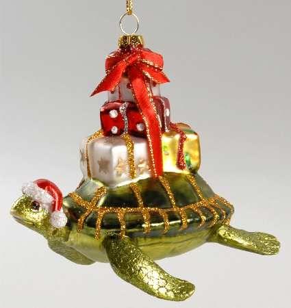 kurt adler kurt adler christmas ornament at replacements ltd sea turtle with gifts - Kurt Adler Christmas