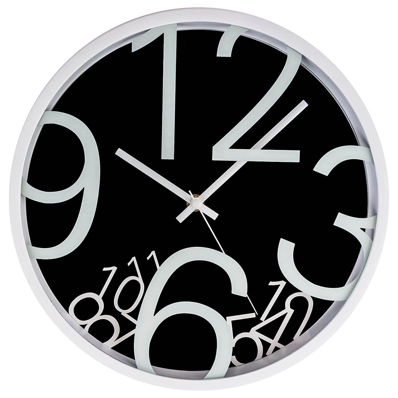 Lgi quartz wall clock modern contemporary wall clock select lgi quartz wall clock modern contemporary wall clock select your color black amipublicfo Images