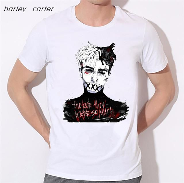 96f14ff63214 MSA SIgnature Xxxtentacion Print T-shirt Soft White Tee Shirt Homme Fashion  Tops Tee Look AT ME
