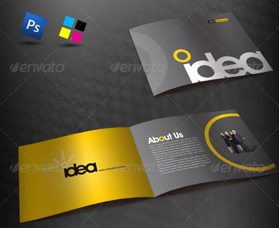 20 most creative brochure design for designers for Unique brochure designs