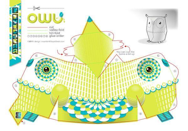 Howie Owl by Maarten Janssens, via Behance