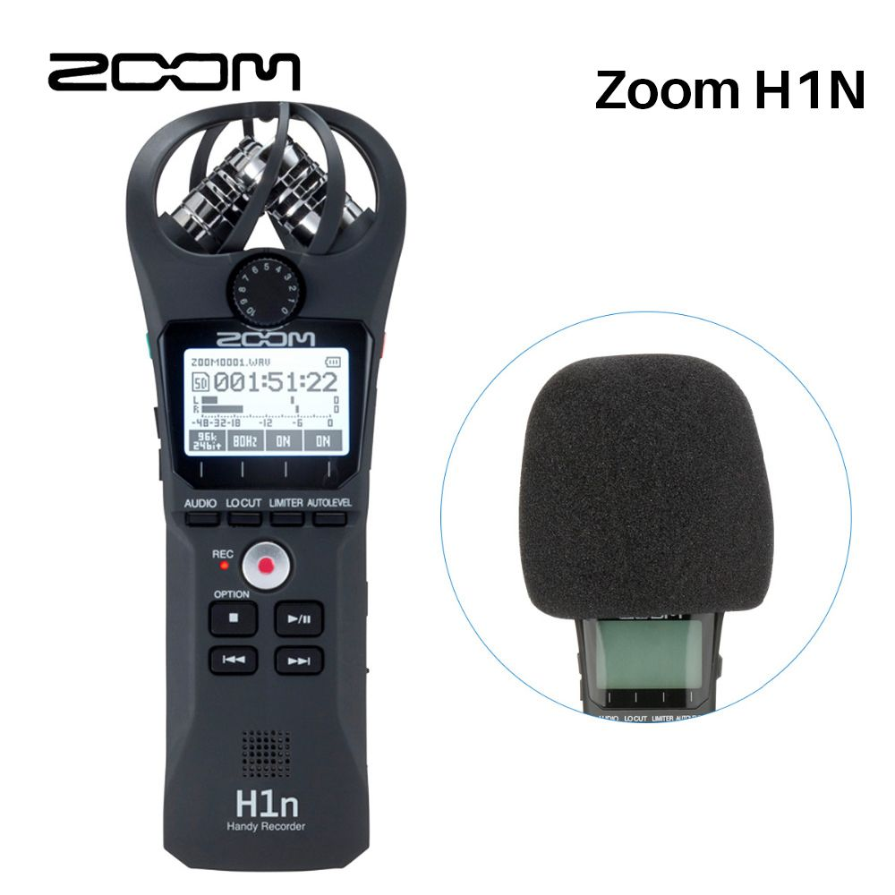 Zoom H1 H1n Handy Digital Voice Recorder Camera Audio Xy Stereo