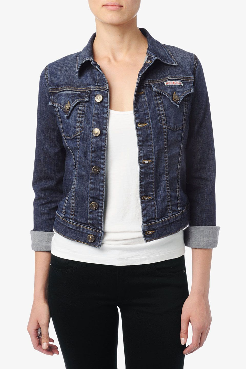 Woman Jean Jacket - Coat Nj
