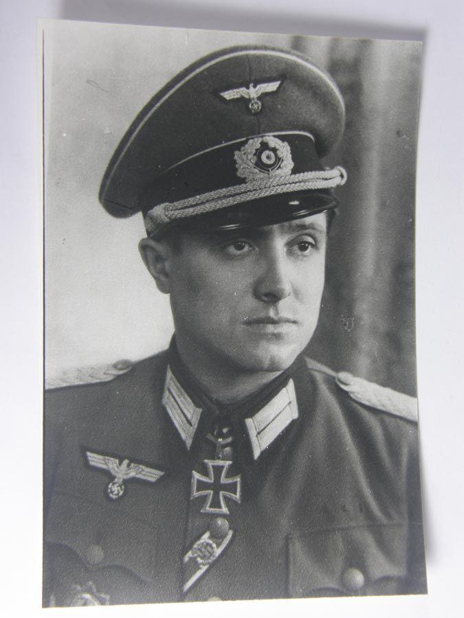 Postwar signed Knight Cross winner Major d. Res. Franz Mader