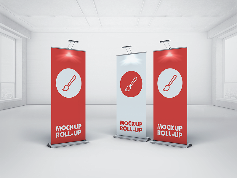 Download Pull Up Banner Mockup Template Free Yellowimages