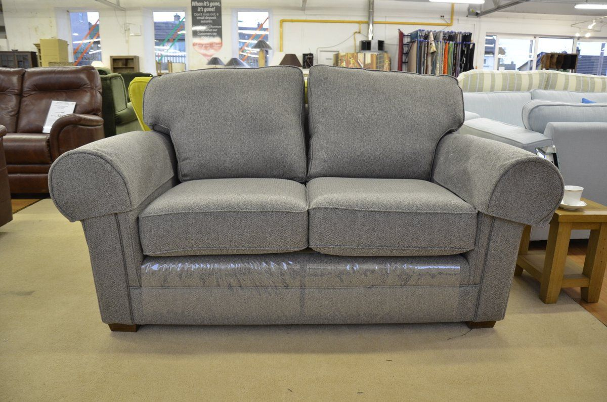 Fabric Sofas Suites Fraser 2 Seater Sofa In Skye Linen Herringbone Fabric Furniture Thatched Cottage Love Seat