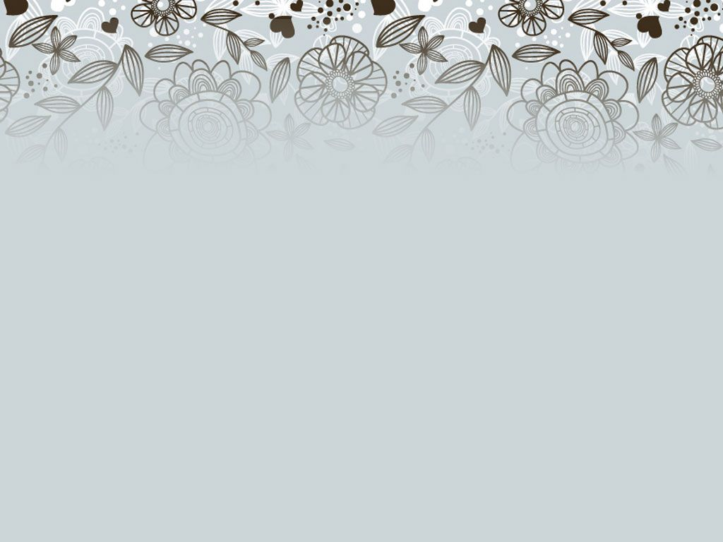 Free Grey Floral Pattern Backgrounds For Powerpoint Flower Ppt