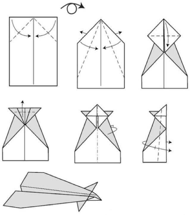 Conrad Paper Airplane step by step Instructions | Paper ... How To Make Cool Paper Airplanes