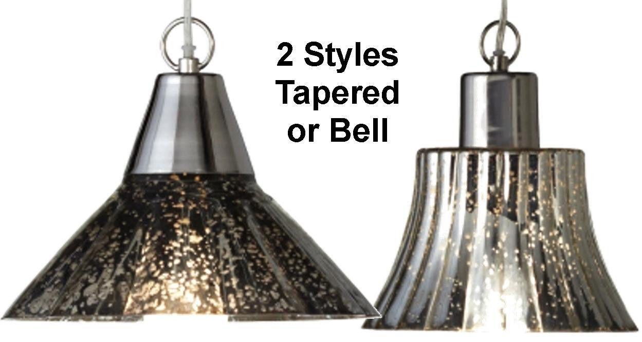 Mercury Glass Pendant Light Swag Lamp Hanging Chandelier Urban Modern Fixture 2 Styles 9 W Or 10 5