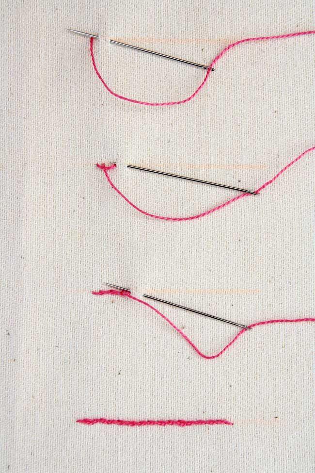 Aprende a bordar con estos tutoriales: Punto atrás: Punto de nudo ...